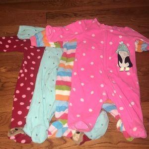 Carters Fleece Footie Pajamas